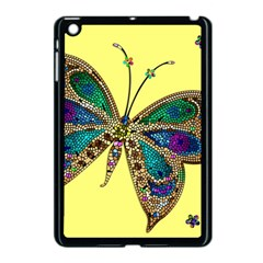 Butterfly Mosaic Yellow Colorful Apple Ipad Mini Case (black)