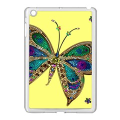 Butterfly Mosaic Yellow Colorful Apple Ipad Mini Case (white)