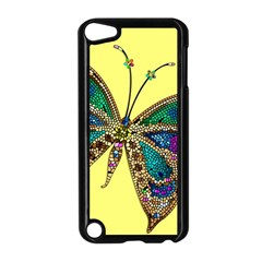 Butterfly Mosaic Yellow Colorful Apple Ipod Touch 5 Case (black)