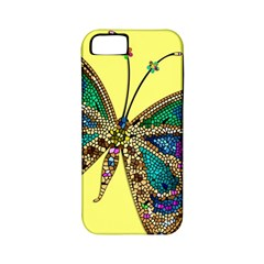Butterfly Mosaic Yellow Colorful Apple Iphone 5 Classic Hardshell Case (pc+silicone)
