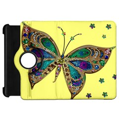 Butterfly Mosaic Yellow Colorful Kindle Fire Hd 7