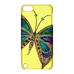 Butterfly Mosaic Yellow Colorful Apple Ipod Touch 5 Hardshell Case With Stand