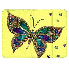 Butterfly Mosaic Yellow Colorful Samsung Galaxy Tab 7  P1000 Flip Case