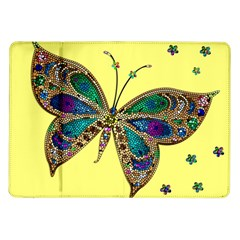 Butterfly Mosaic Yellow Colorful Samsung Galaxy Tab 10 1  P7500 Flip Case