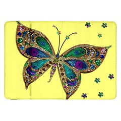 Butterfly Mosaic Yellow Colorful Samsung Galaxy Tab 8 9  P7300 Flip Case