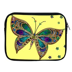 Butterfly Mosaic Yellow Colorful Apple Ipad 2/3/4 Zipper Cases