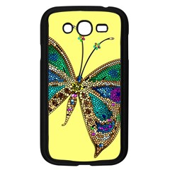 Butterfly Mosaic Yellow Colorful Samsung Galaxy Grand Duos I9082 Case (black)