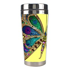 Butterfly Mosaic Yellow Colorful Stainless Steel Travel Tumblers