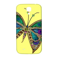Butterfly Mosaic Yellow Colorful Samsung Galaxy S4 I9500/i9505  Hardshell Back Case