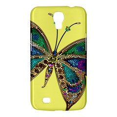 Butterfly Mosaic Yellow Colorful Samsung Galaxy Mega 6 3  I9200 Hardshell Case