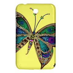 Butterfly Mosaic Yellow Colorful Samsung Galaxy Tab 3 (7 ) P3200 Hardshell Case