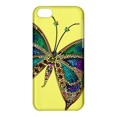 Butterfly Mosaic Yellow Colorful Apple Iphone 5c Hardshell Case