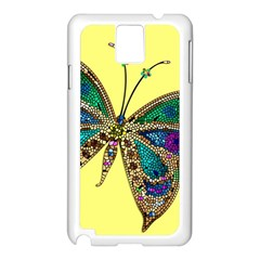 Butterfly Mosaic Yellow Colorful Samsung Galaxy Note 3 N9005 Case (white)