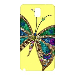 Butterfly Mosaic Yellow Colorful Samsung Galaxy Note 3 N9005 Hardshell Back Case