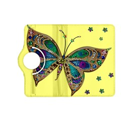 Butterfly Mosaic Yellow Colorful Kindle Fire Hd (2013) Flip 360 Case
