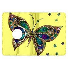 Butterfly Mosaic Yellow Colorful Kindle Fire Hdx Flip 360 Case