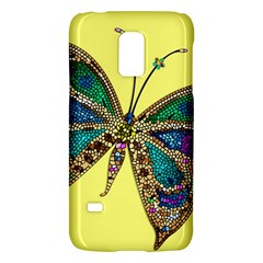 Butterfly Mosaic Yellow Colorful Galaxy S5 Mini