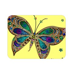 Butterfly Mosaic Yellow Colorful Double Sided Flano Blanket (mini)