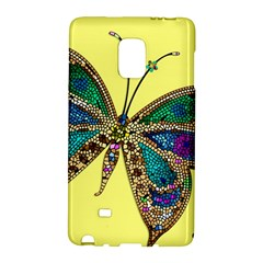 Butterfly Mosaic Yellow Colorful Galaxy Note Edge