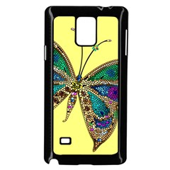 Butterfly Mosaic Yellow Colorful Samsung Galaxy Note 4 Case (black)