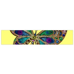 Butterfly Mosaic Yellow Colorful Flano Scarf (small)