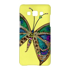Butterfly Mosaic Yellow Colorful Samsung Galaxy A5 Hardshell Case