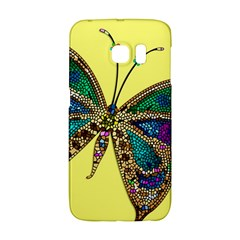 Butterfly Mosaic Yellow Colorful Galaxy S6 Edge