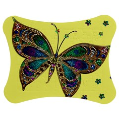 Butterfly Mosaic Yellow Colorful Jigsaw Puzzle Photo Stand (bow)