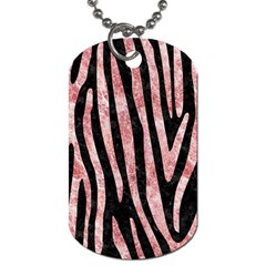 Skin4 Black Marble & Red & White Marble (r) Dog Tag (two Sides)