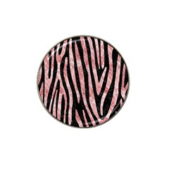 Skin4 Black Marble & Red & White Marble (r) Hat Clip Ball Marker