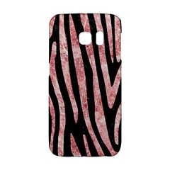Skin4 Black Marble & Red & White Marble (r) Samsung Galaxy S6 Edge Hardshell Case