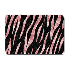 Skin3 Black Marble & Red & White Marble Small Doormat