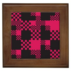 Cube Square Block Shape Creative Framed Tiles