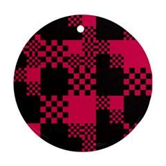 Cube Square Block Shape Creative Ornament (round)