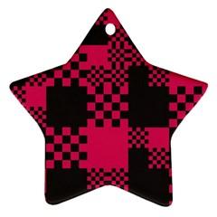 Cube Square Block Shape Creative Ornament (Star)