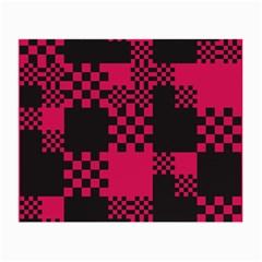 Cube Square Block Shape Creative Small Glasses Cloth (2-Side)