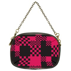 Cube Square Block Shape Creative Chain Purses (one Side)