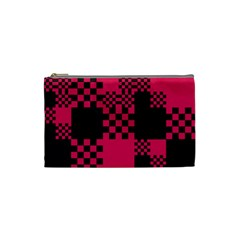 Cube Square Block Shape Creative Cosmetic Bag (small)