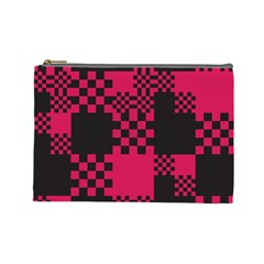 Cube Square Block Shape Creative Cosmetic Bag (large)