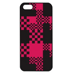 Cube Square Block Shape Creative Apple Iphone 5 Seamless Case (black)