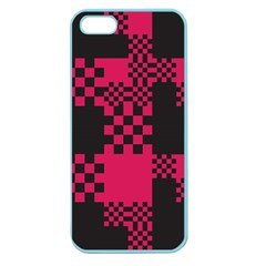 Cube Square Block Shape Creative Apple Seamless Iphone 5 Case (color)