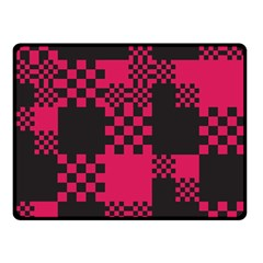 Cube Square Block Shape Creative Double Sided Fleece Blanket (small)