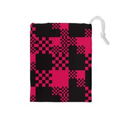 Cube Square Block Shape Creative Drawstring Pouches (medium)