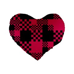 Cube Square Block Shape Creative Standard 16  Premium Flano Heart Shape Cushions