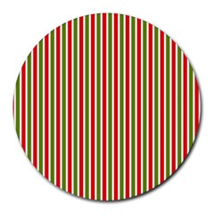Pattern Background Red White Green Round Mousepads