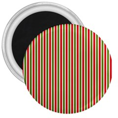 Pattern Background Red White Green 3  Magnets