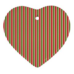 Pattern Background Red White Green Ornament (heart)