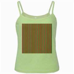 Pattern Background Red White Green Green Spaghetti Tank
