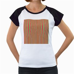 Pattern Background Red White Green Women s Cap Sleeve T