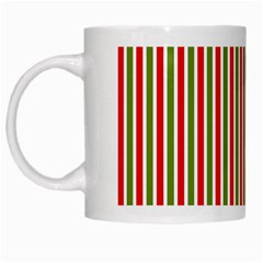 Pattern Background Red White Green White Mugs
